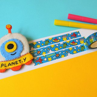 y planet _ and stars together dance paper tape