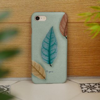 iphone case mixed color leafs for iphone5s, 6s, 6s plus, 7, 7+, 8, 8+, iphone x