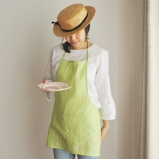 Linen Apron Summer Collection ♡ Lime Green