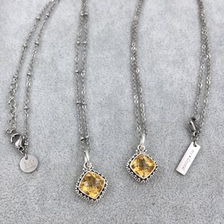 ♦ My.Crystal ♦ Dawn ♦ Gemstone natural citrine handmade silver pendant