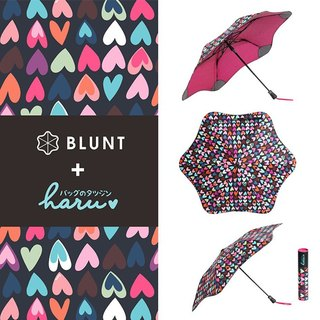 "[BLUNT + HARU] anti-strong wind umbrella - limited edition ""chocolate sweetheart"" totem completely anti-UV - beauty folding umbrella"