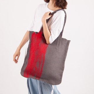 Ke original custom handmade wool felt solid color shoulder bag female large bag pure wool ink Japanese simple retro
