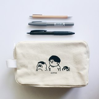 Stool zipper storage bag / cosmetic bag / pencil case