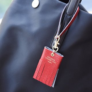 PLEPIC beautiful holiday tassel strap luggage tag - Venice red, PPC93877