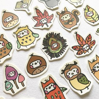 Autumn party illustration sticker