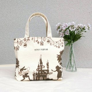 【Customized Name】 Alice in Wonderland / Print Canvas / Hand Bag - Gift Tote Bag