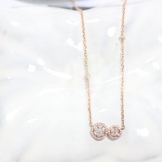 Mini Diamond necklace in 18K rose gold