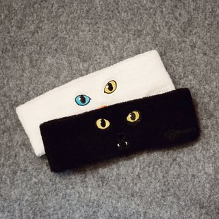 New arrival / Cat Series - Embroidery Cat Headband - Total 2 Colors (1 Set)