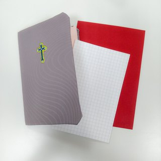 Christian Card Gospel Card - Pure Handmade Cross Embroidered Card - Road
