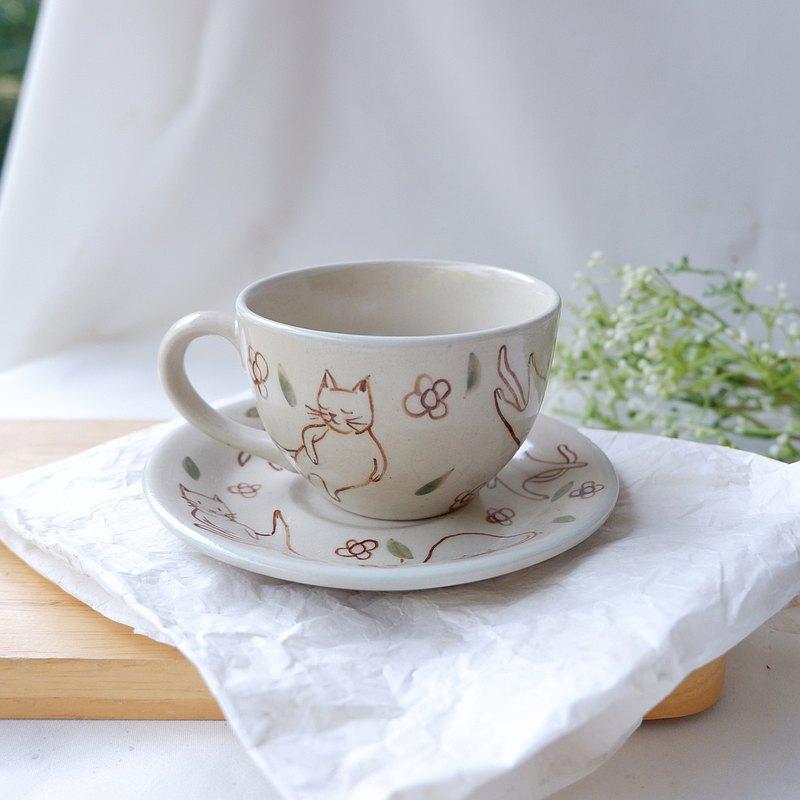 小貓咖啡杯|白色