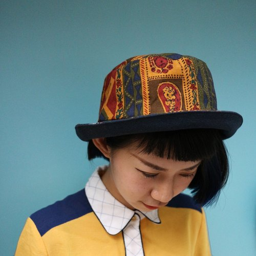 JOJA│ [Limited] Taiwan old cloth flowers / SM adjustable / single fisherman hat