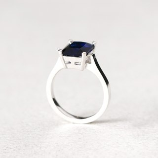 Sapphire Square Ring Silver925