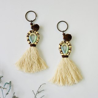 Brown Cracked Crystals-Bohemia style tassel Hanging ornaments Key holder