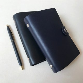 MARS Leather Universal Handbook Six-hole Loose-leaf Pocket Notes Graphite Black