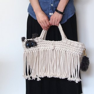 Himalayan motif macrame braided fringe type fringe bag (made to order)