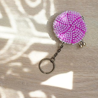 Ba-ba handmade Beads crochet mini-coinpurse No.812