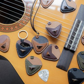 Leather Guitar Pick Case  (Triangle made by leather)