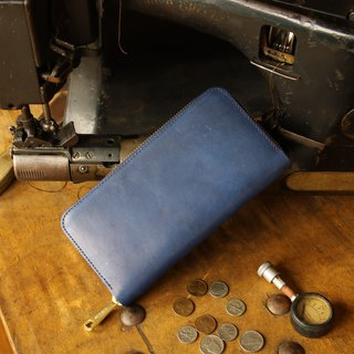 日本製造 牛皮 錢包 深藍 made in JAPAN handmade leather wallet