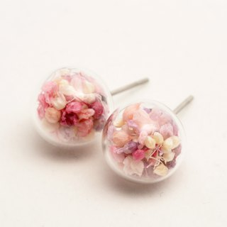 OMYWAY Handmade Dried Flower - Glass Globe - Earrings