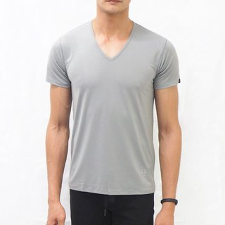 Copper Ammonia Comfort V-neck Tee - Grey