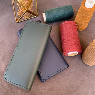 6 card length leather wallet long hand for leather hand sewing leather