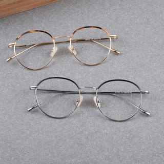[Commercial Firm] Ultra-popular Pear-shaped Titanium Metal Frame Glasses Eyebrow Frame Design