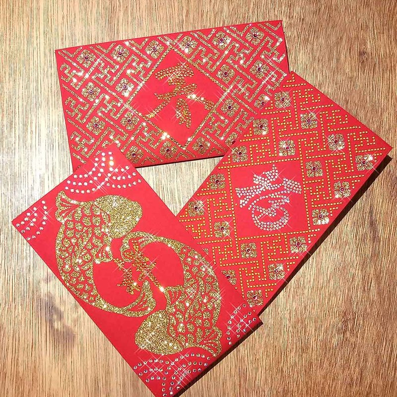 【GFSD】豪華限定紅包袋-【富貴金燦燦系列 三入一組】