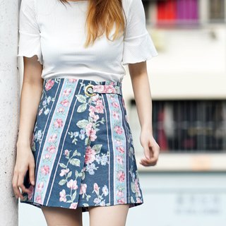 Rosie Floral Printed Layered Skir
