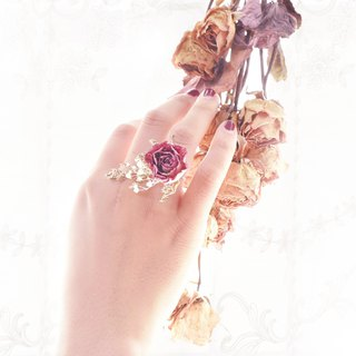 WANYI Rose Amaranth Ring Dry Flower / Bridesmaid / Wedding / Valentine's Day / Outside / Wedding