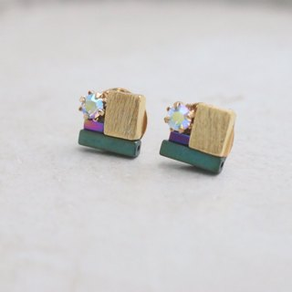 <☞ HAND IN HAND ☜> Brass - Countdown Earrings (0935)