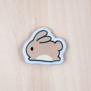 Rice fried rice cake Toffee cloth rabbit brooch / badge (BH004D)