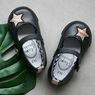 Debbie black shiny venus doll shoes