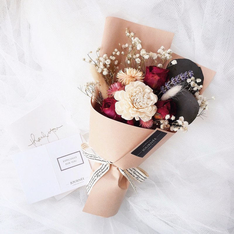 Journee elegant Korean dry bouquet of dry roses bouquet - Designer ...
