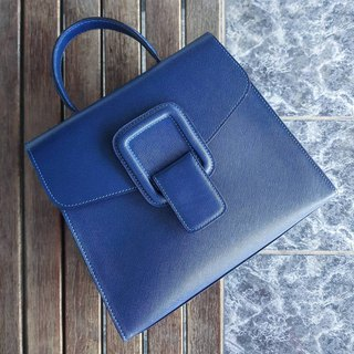 PINCH NO.1 (Deep Blue 26 inches) Classic and Iconic Leather Handbag/Crossbody