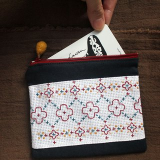 - Cross-stitch Pouch - | Storage | Handmade | Cross-stitch | Accompany | Gift