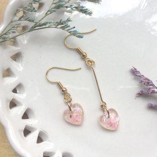 Zoe's forest love or water droplets transparent earrings