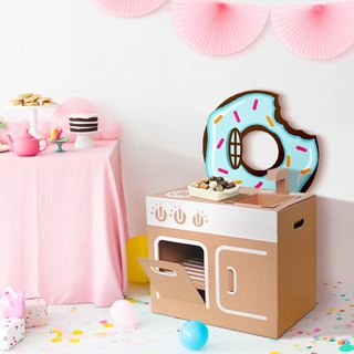 Mini kitchen (with donut backing stickers) play home wine fun creative gifts green toys