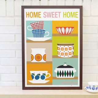 Scandinavian retro minimalist poster Home Sweet Home 1 original customizable paintings without frame