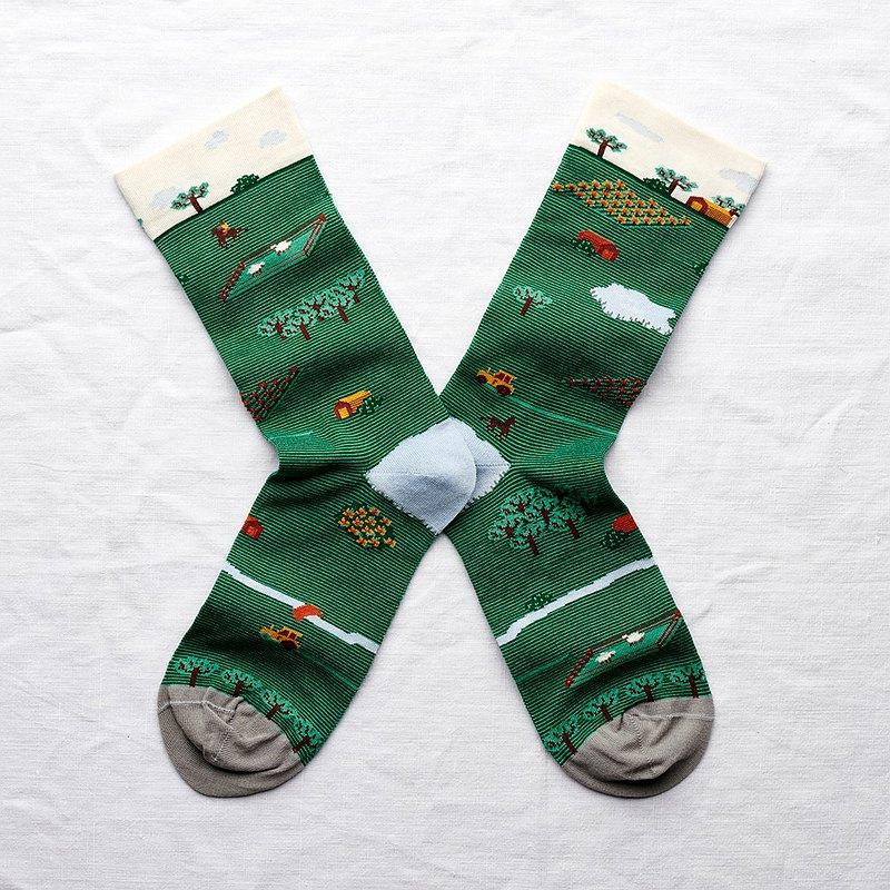 Bonne Maison 積木田園 純棉織襪