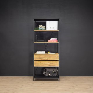 Creesor - Shido 40 industrial wind cabinet bookcase display cabinet storage cabinet