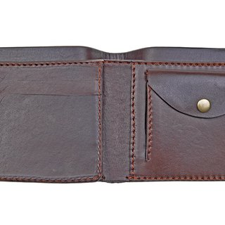 [DOZI leather hand made] short clip 2nd double identification card + card insert + change function