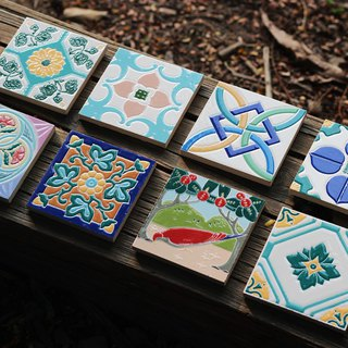 Taiwan Tiles - 8 Pieces (Cup Rest, Mural, Tile)
