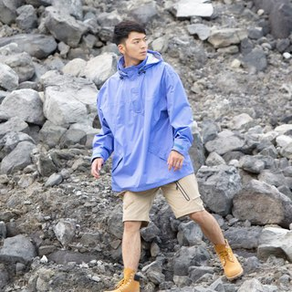 Neutral semi-open waterproof jacket -Uranus Blue