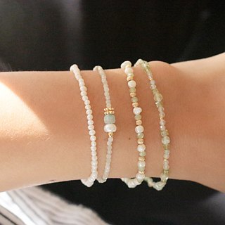 Emerald pearl cotton thread bracelet (0857 making mistakes)