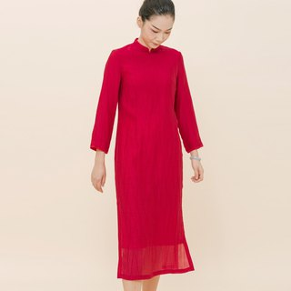 BUFU Chinese -dress in red for the new year  D170801