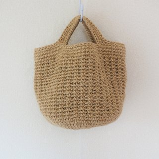 Round bottom tote bag(big),jute string