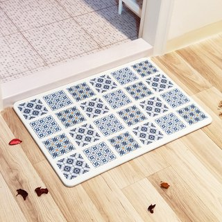 [MBM] retro image tile washable algae land mat foot pad