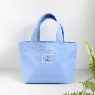[hydrangea blue] tote bag (custom embroidery 26 English words) / green bag lunch bag