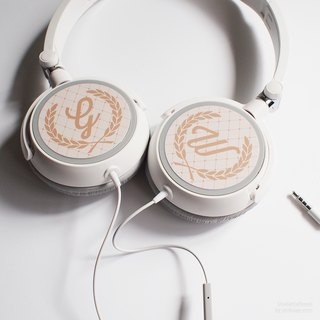 Wreath - Personalized Headphone, Personalized gifts, Birthday Gift, Gift for Teens, for Couples, Name Gift, Gift with Initials