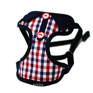 Pet chest back / chest strap cat and dog for gentleman plaid